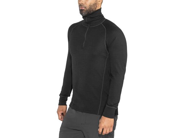 Salewa Klettergurt Tour Duo : Devold duo active zip neck shirt men black campz.de
